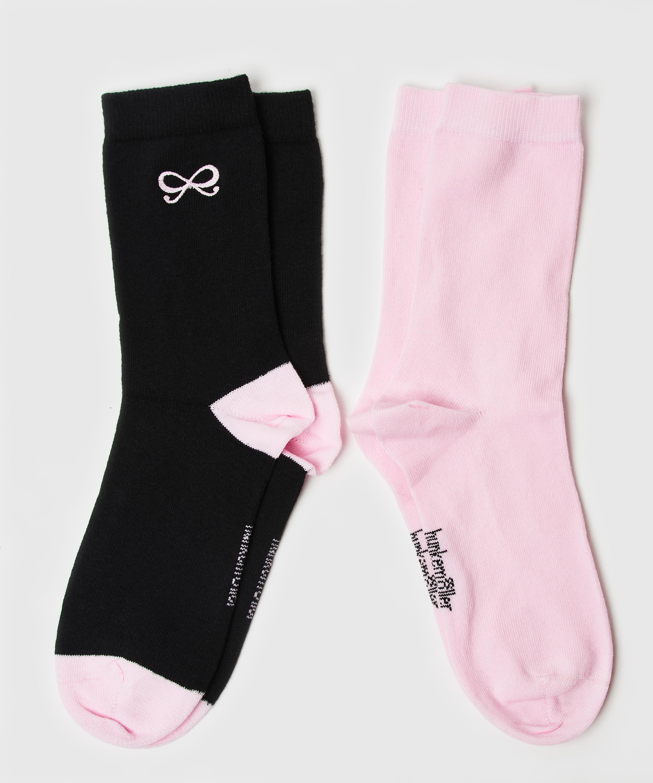 2 paires de chaussettes Bow, Noir, main
