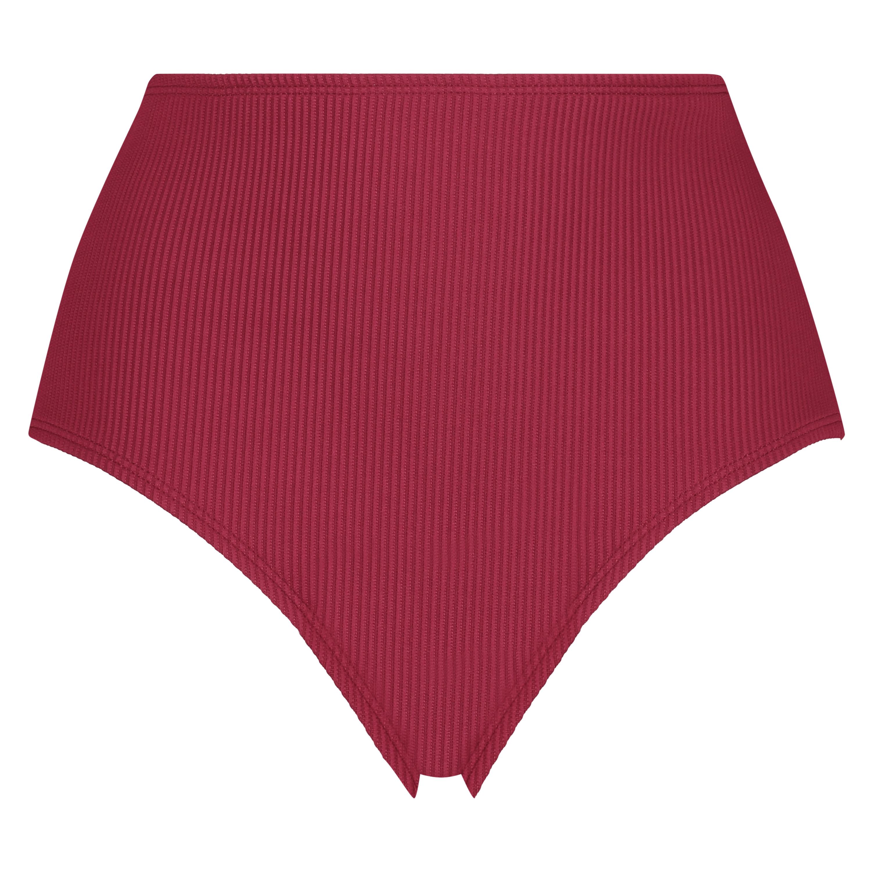 Slip de bikini échancré Golden Rings, Rouge, main
