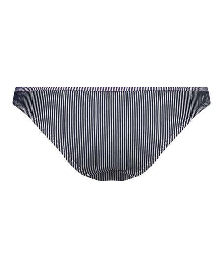Bas de bikini Rio Ruffle Stripe, Bleu