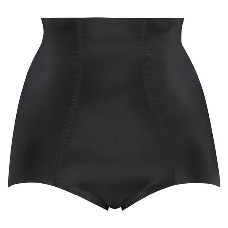 Culotte taille haute avec gaine sculptante en dentelle scuba - Level 3, Noir