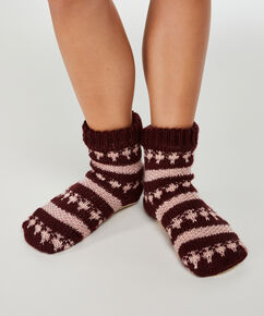 Chaussettes antiglisse, Rouge