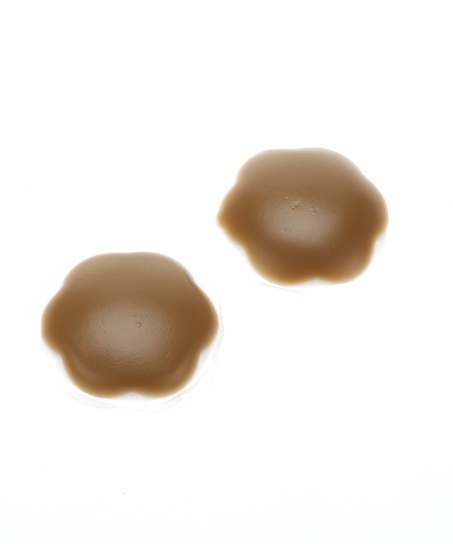 Silicon nipple covers, marron