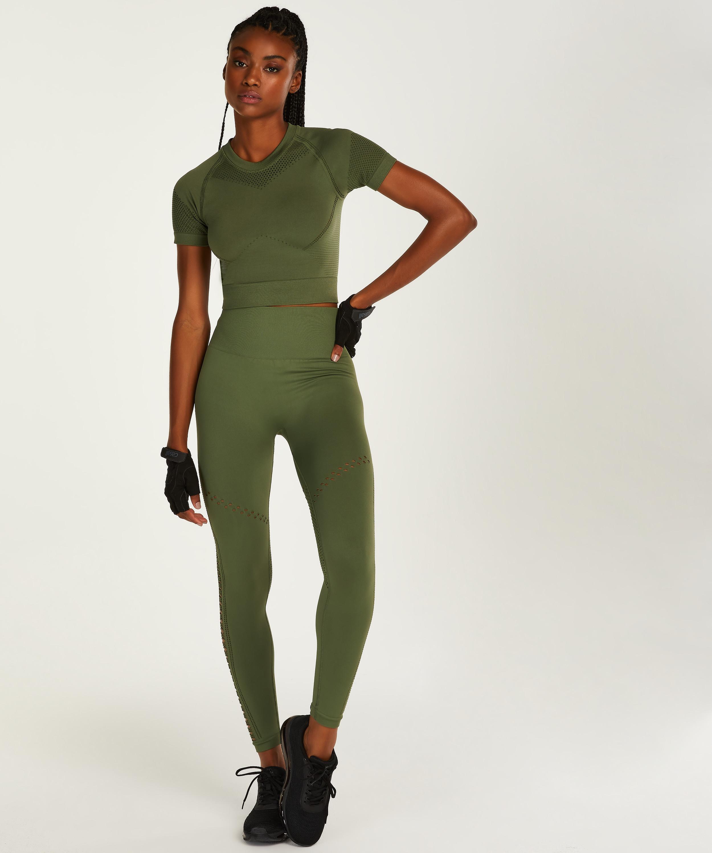 HKMX Legging taille haute sans couture Karma, Vert, main