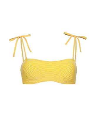 Haut de bikini bandeau préformé Carmel, Jaune