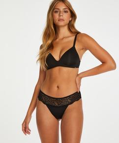 Boxer string Lace, Noir