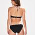 Culotte de bikini rio basse de pétoncle, Noir
