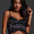 Soutien-gorge à armatures préformé longline Heather, Noir