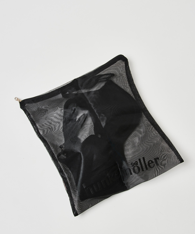 Filet lingerie fermeture éclair, Noir, main