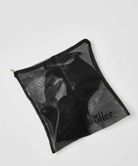 Filet lingerie fermeture éclair, Noir