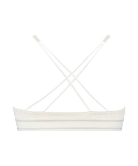 Brassière triangulaire moulée Coton Casey, Blanc