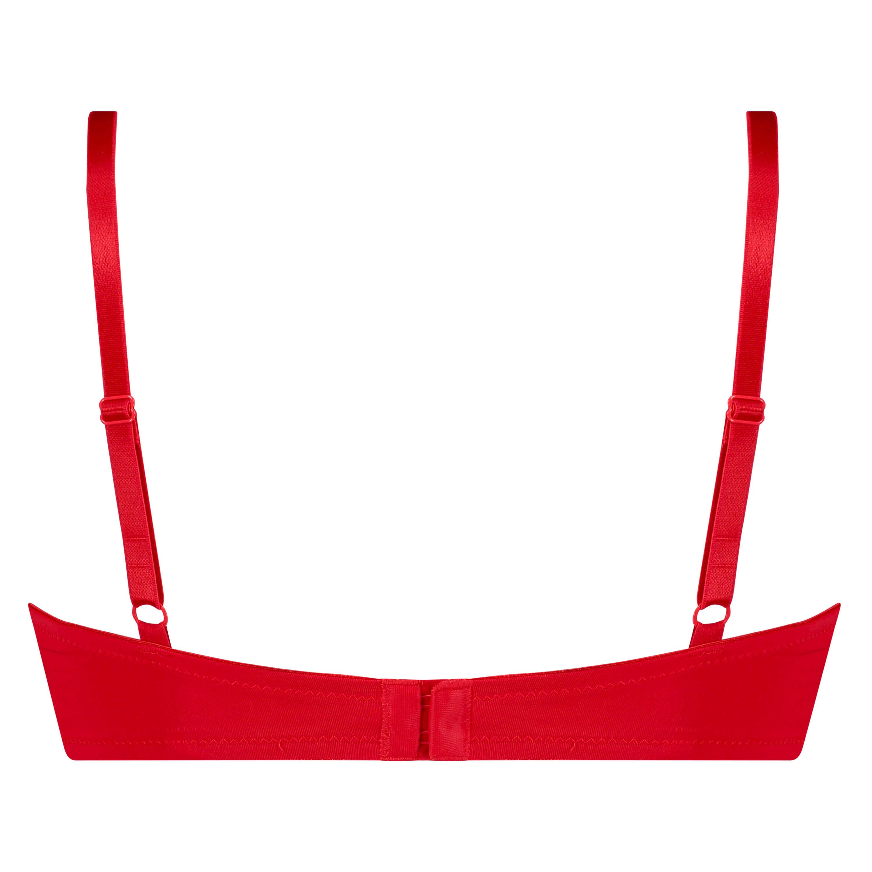Soutien-gorge à armatures préformé Plunge, Rouge, main