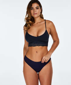 String Invisible Lace back, Bleu