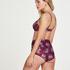 Short de bikini taille haute Tropic glam, Rouge