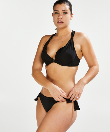 Slip de bikini brésilien Sunset Dream, Noir