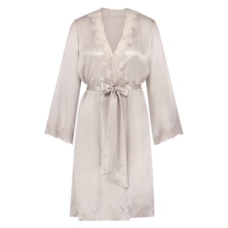 Kimono en dentelle de soie, Rose