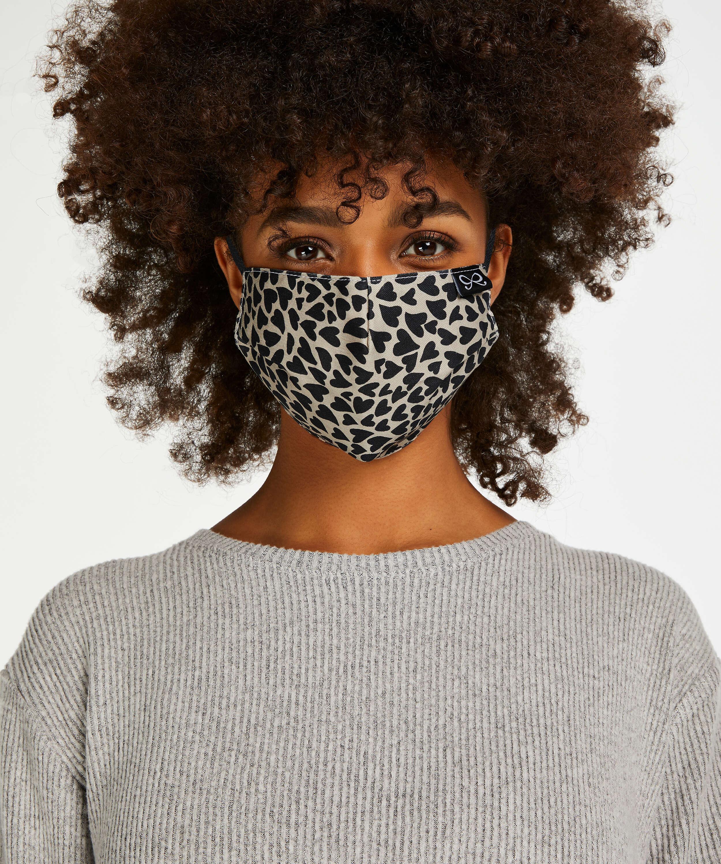 Masque Coton, marron, main