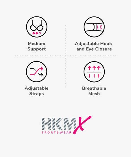 HKMX Soutien-gorge de sport The All Star Maintien niveau 2, Noir