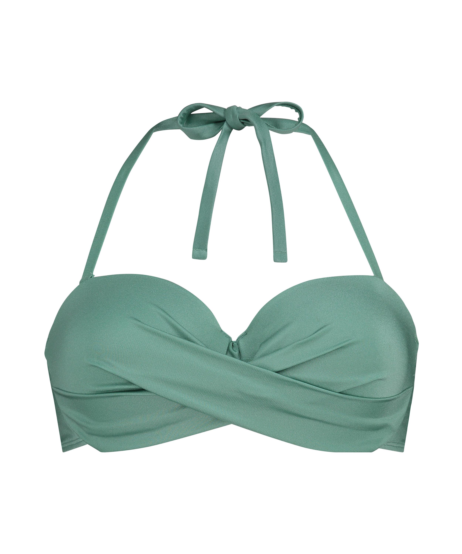 Haut de bikini à armatures à effet push-up préformé SoCal, Vert, main