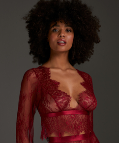 Top Allover Lace, Rouge