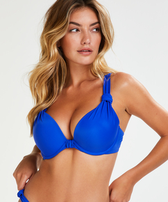 Haut de bikini à armatures préformé Luxe Taille E +, Bleu
