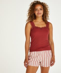 Short Chambray Stripe, Rose