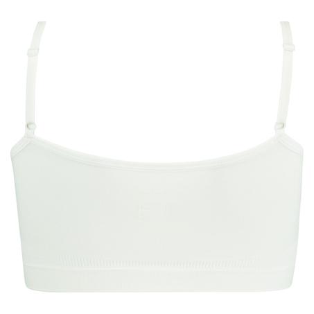 Top à fines bretelles sans coutures, Blanc