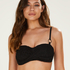 Haut de bikini bandeau préformé Crochet, Noir