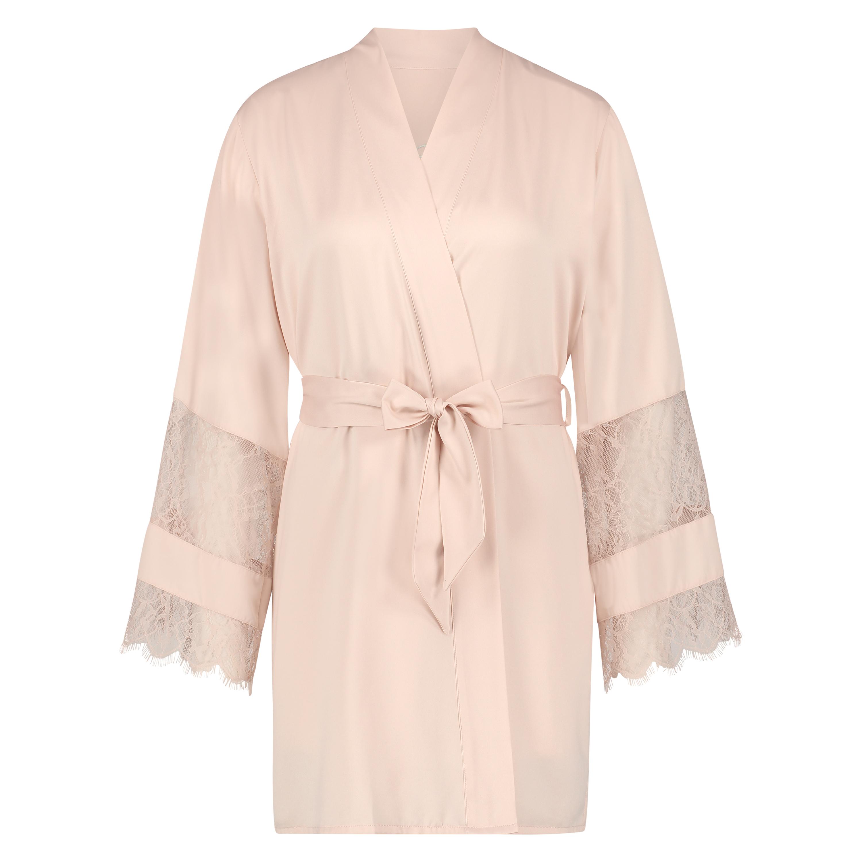 Kimono satin Bridal, Rose, main