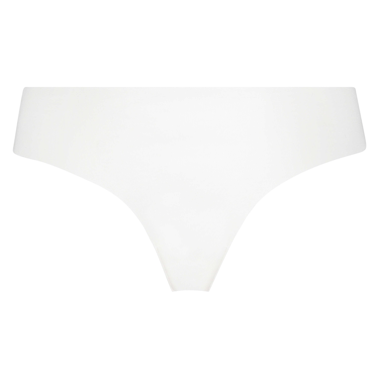 Slip brésilien invisible en coton, Blanc, main