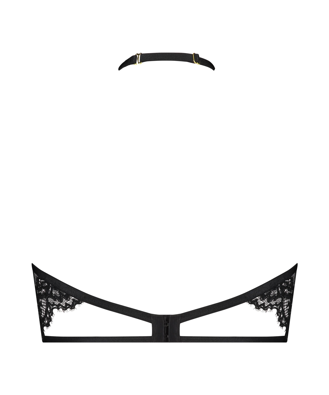 Soutien-gorge à armatures non-préformé col licou Eve, Noir, main