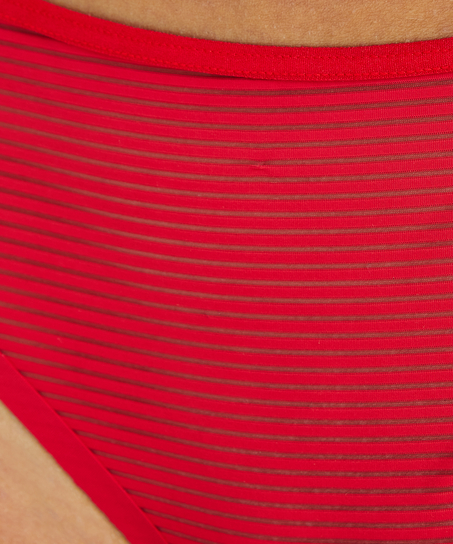 Invisible string Stripe mesh, Rouge