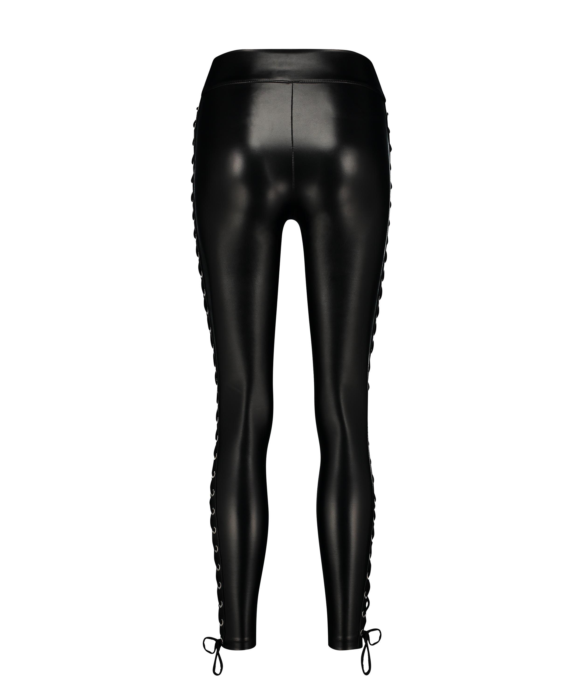Legging Lace up, Noir, main