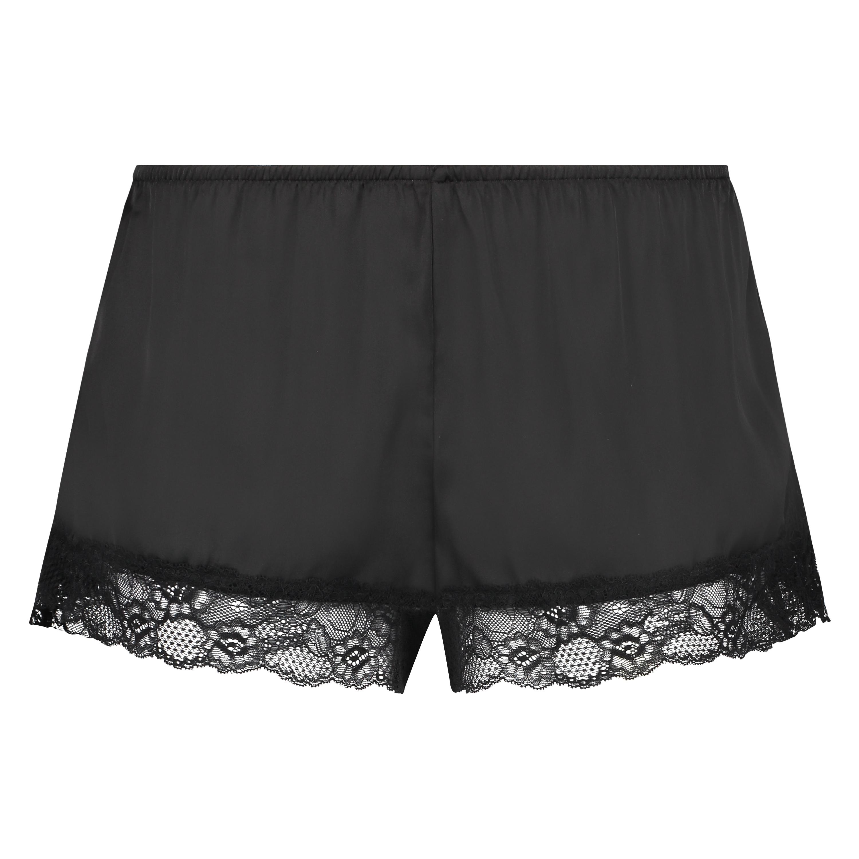Short de pijama Satin, Noir, main