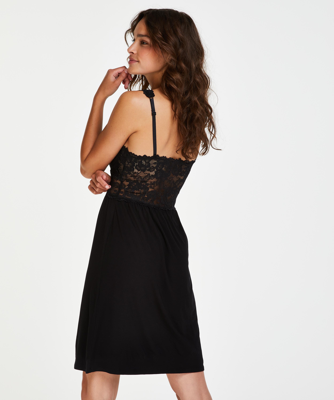 Nuisette Modal Lace, Noir, main