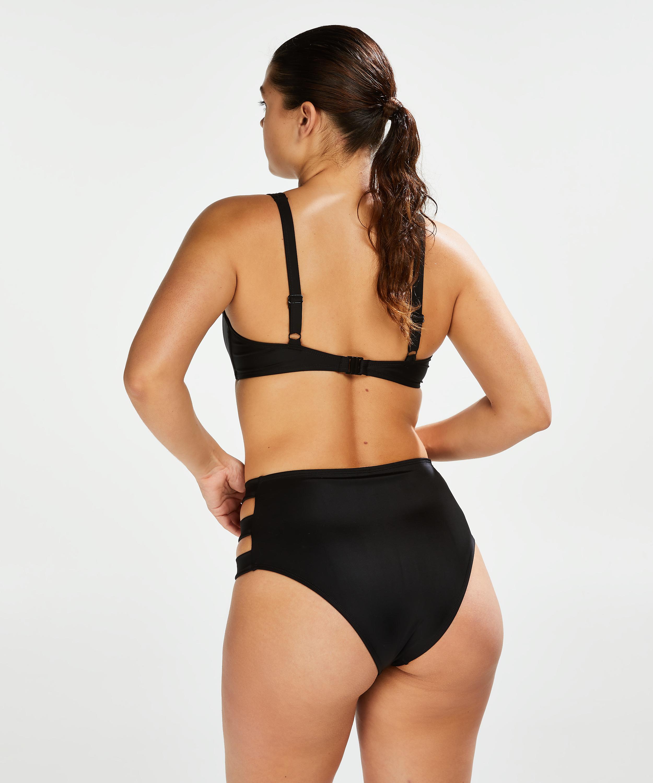 Slip de bikini taille haute Sunset Dream, Noir, main
