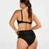 Slip de bikini taille haute Sunset Dream, Noir