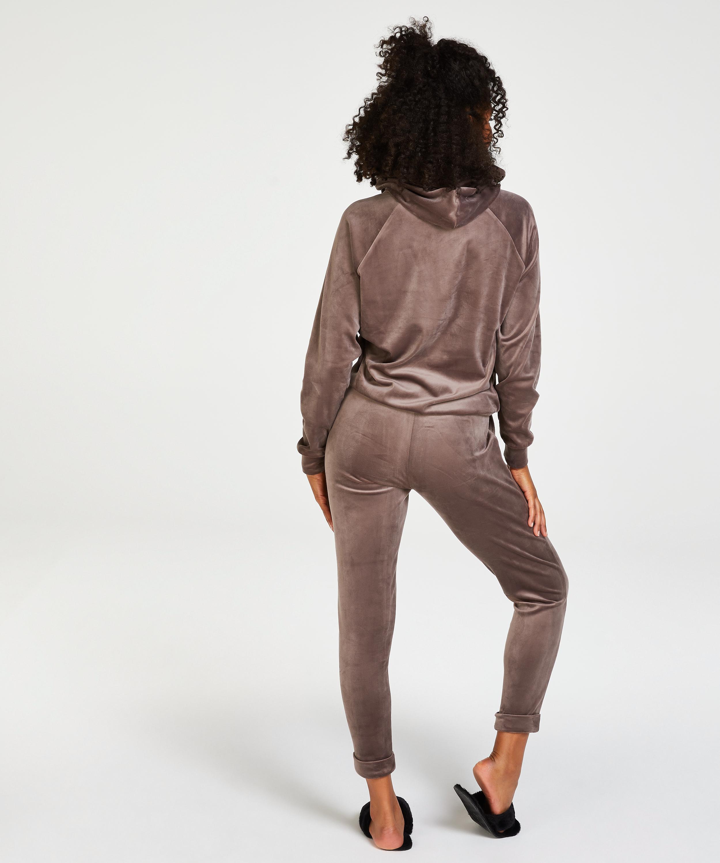 Pantalon de jogging Velours, marron, main