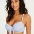 Haut de bikini à armatures préformé Scallop, Bleu