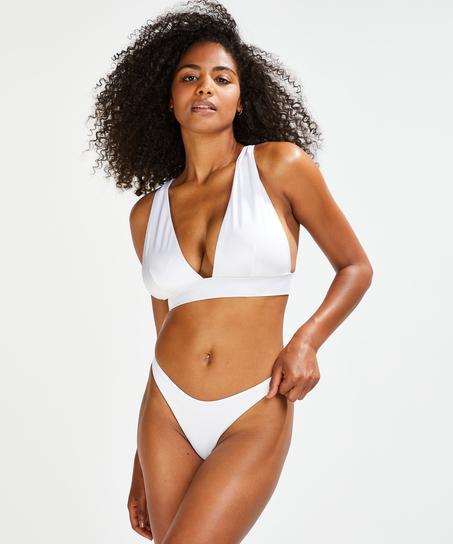 Slip de bikini échancré Lola, Blanc