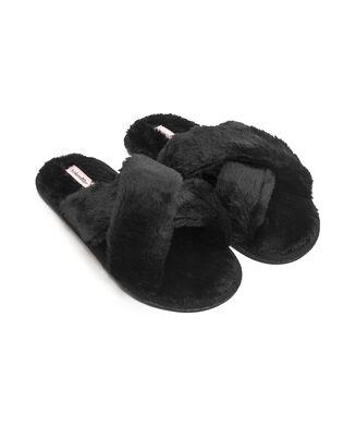 Cross Straps Indoor Sandal, Noir