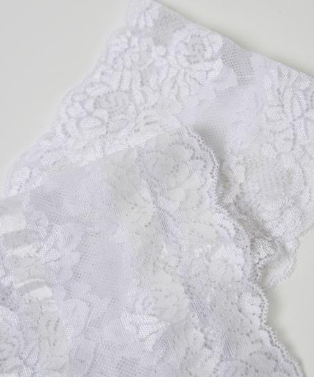 Bandes de cuisses anti-frottements en dentelle, Blanc