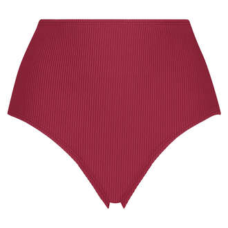 Slip de bikini échancré Golden Rings, Rouge