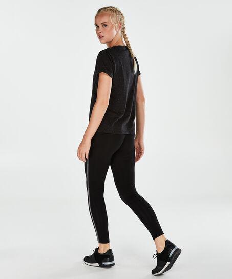 T-shirt de sport à manches courtes HKMX, Noir