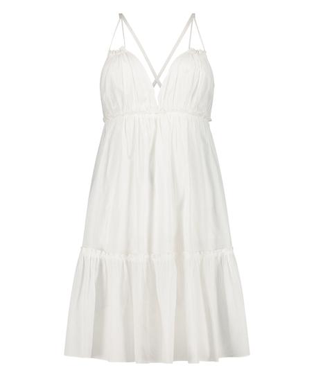 Robe de plage Tiered, Blanc
