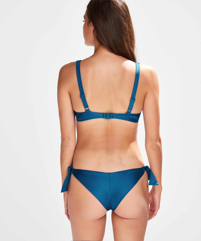 Slip de bikini brésilien Sunset Dream, Bleu, main