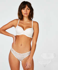 Lot de 2 slips Angie, Blanc