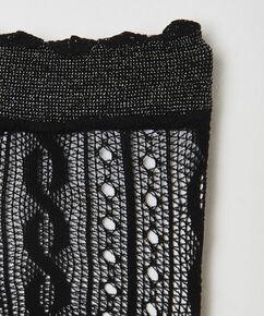 Chaussettes au crochet en résille Ann Kathrin, Noir