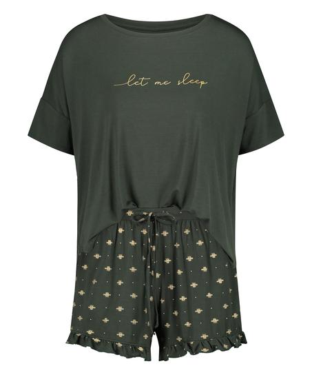 Ensemble de pyjama court, Vert