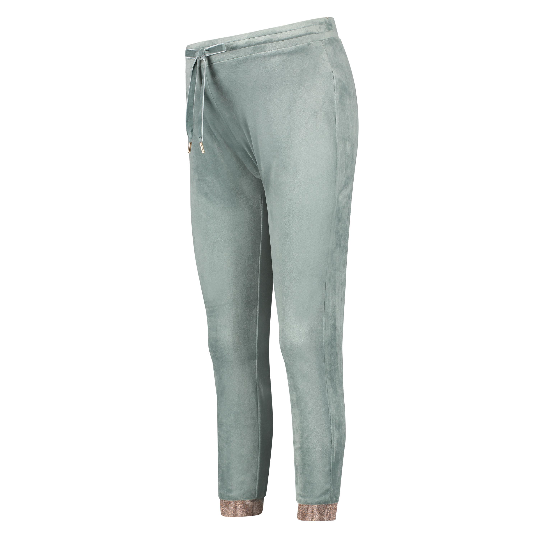 Pantalon de jogging en velours lurex, Vert, main