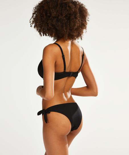 Bas de bikini brésilien Scallop Goddess, Noir